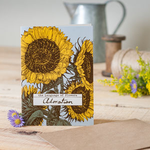 'Adoration' Sunflower Card
