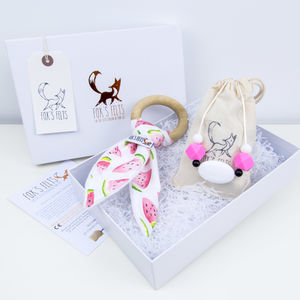 Mumma And Baby Watermelon Teething Gift Set