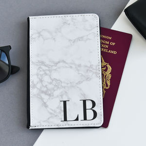 Personalised Marble Passport Cover - bags & purses