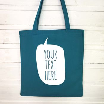 Personalised Speech Bubble Tote Bag