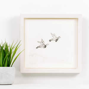 'Turtle Doves' Children's Illustration Print - nursery pictures & prints