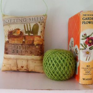Hand Printed 'Potting Shed' Lavender Filled Pillow - bedroom