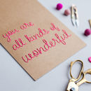 You Are Wonderful Stitched Sign