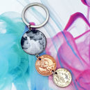 Personalised Photo Coin Keyring