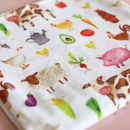 Muslin Swaddle Blanket Farmyard