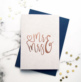 Mr And Mrs Rose Gold Card