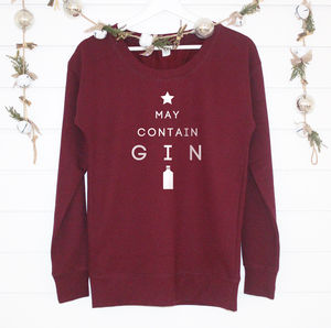 'May Contain Gin' Ladies Jumper - women's fashion