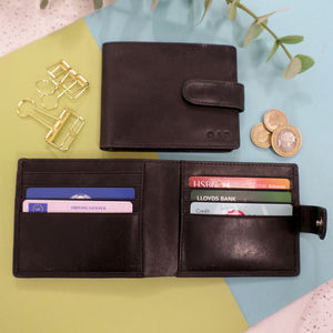 Vintage Leather Personalised Wallet