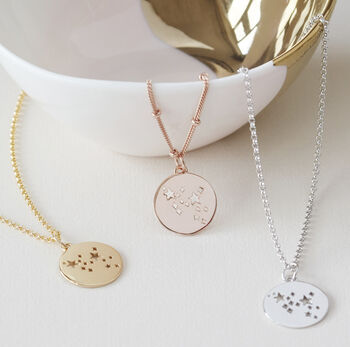 Sagittarius Constellation Necklace Silver, Gold Or Rose