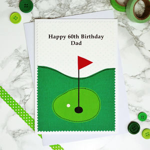 'Golf' Personalised Birthday Card
