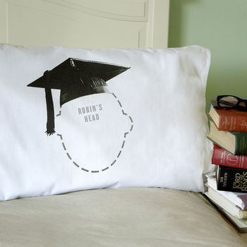 Graduation Gift Mortar Board Personalised Pillowcase