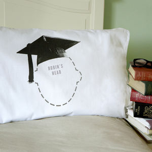 Graduation Gift Mortar Board Personalised Pillowcase - graduation gifts