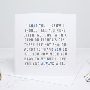 'Always' Father's Day Card - best father's day cards