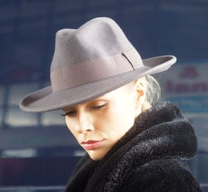 Waterproof And Crushable Warm Grey Fedora