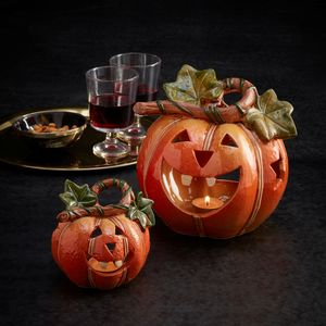 Halloween Pumpkin Candle Holders - table decoration