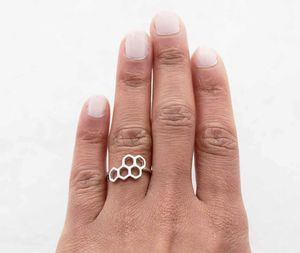 Honeycomb Geometric Ring - rings