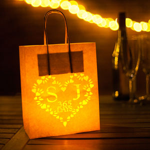 First Anniversary Paper Lantern Initials Personalised