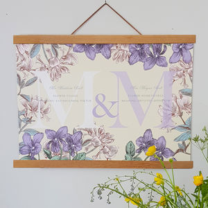 Personalised Wedding Flowers Print