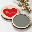 heart compact pocket mirror for mothers day red heart