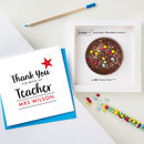 Thank You Teacher Card And Chocolate Treat