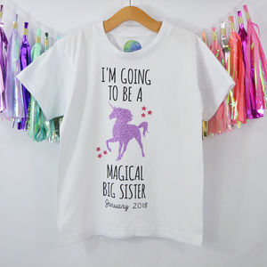 'Magical Big Sister' New Baby Announcement T Shirt