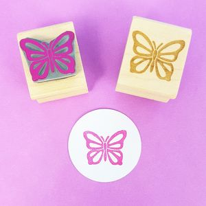 Fluttering Butterfly Rubber Stamp