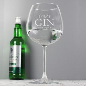 Personalised Engraved Gin Balloon Glass - wine glasses & goblets