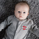 I Heart Mummy Embroidered Baby Grow