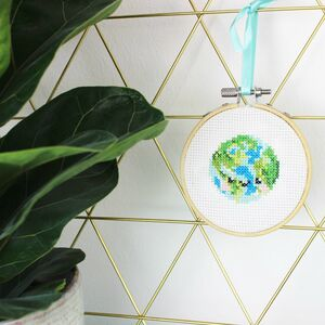 Happy Earth Mini Cross Stitch Kit