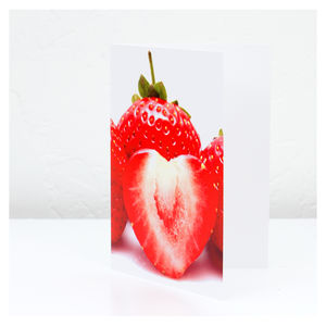 My Strawberry Heart Greetings Card
