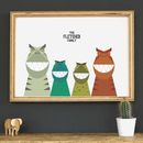 Personalised Dinosaur Family Print