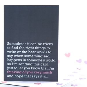 'Thinking Of You Very Much' Card - shop by category