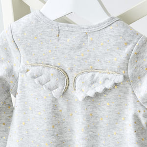 Gold Stars Angel Wings Babygrow - baby shower gifts