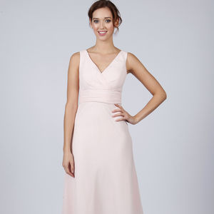 Knee Length Bridesmaid Or Prom Dress With Straps - bridesmaid dresses