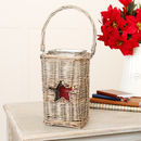 Personalised Wicker Star Candle Holder