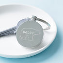 Personalised Engraved Daddy Bear Keyring