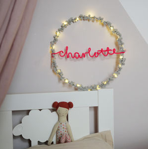 Personalised Fairy Light Hoop