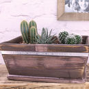 Barn Wood Painted Planter Personalised for Mum