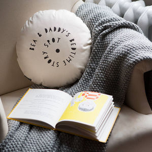 Personalised Bedtime Story Spot Cushion - living room