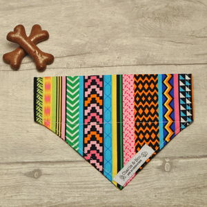 Multi Colour Dog Bandana For Girl Or Boy Dogs