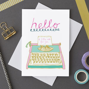 'Hello' Blank Greetings Card