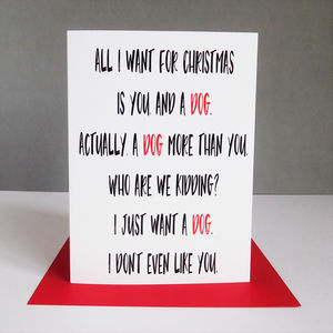 Funny Dog Christmas Card
