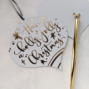 Two In One Christmas Card And Bauble Decoration