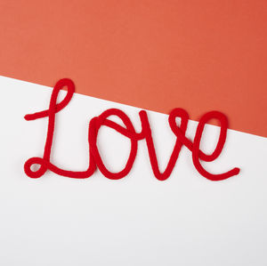 'Love' Knitted Wire Word Sign - decorative letters