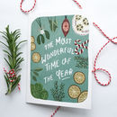 'The Most Wonderful Time Of The Year' Christmas Card