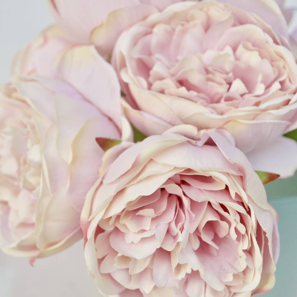 vintage rose artificial peony bouquet by abigail bryans designs |  notonthehighstreet.com