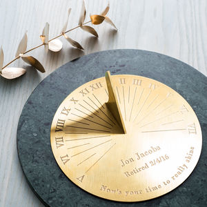 Personalised Copernicus Brass Sundial - retirement gifts