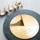 Personalised Copernicus Brass Sundial