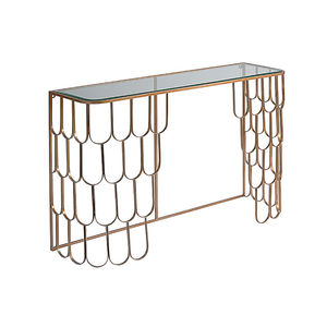 Amelia Brass Console Table - office & study