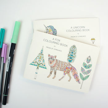 Colouring Book Foxes